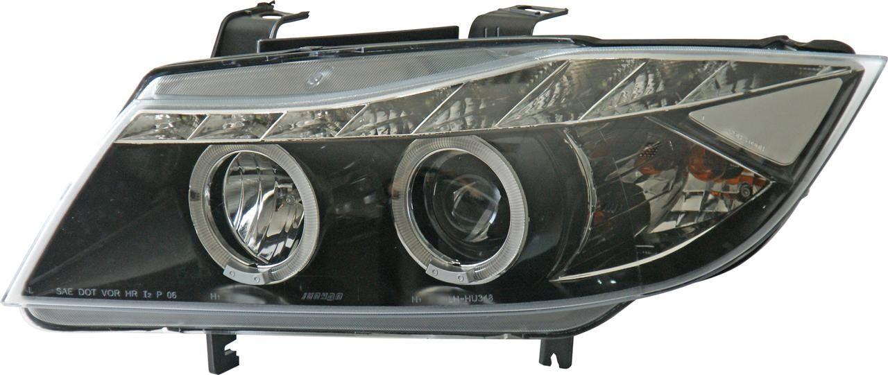 AutoStyle Jeu de phares DRL-Look adaptable à BMW 3-Serie E90 / E91 2005-2008 - Noir