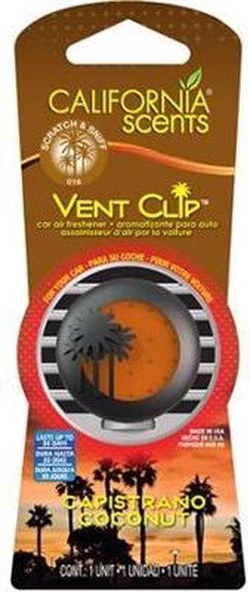 California Scents Vent Clip Display 6 Pcs Capistrano Noix De Coco
