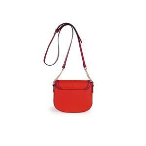 Basler Le sac bandoulière aspect Saffiano Basler rouge - Publicité