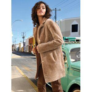 Fadenmeister Berlin Le manteau réversible en peau d'agneau Fadenmeister Berlin beige 40 - Publicité