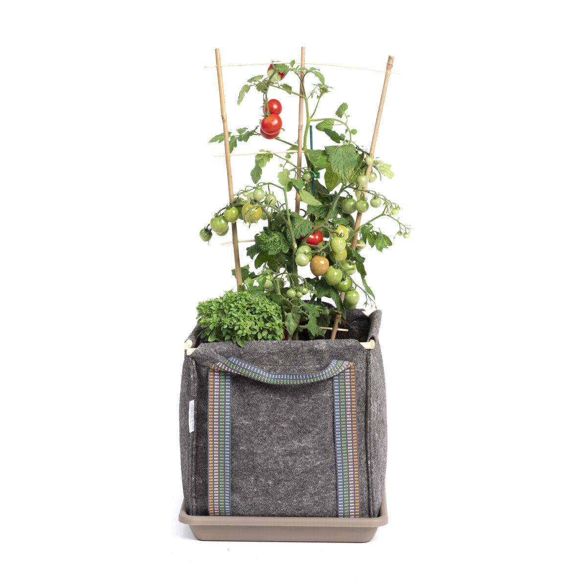 Metro Huerto Jardinière bac à fleurs en géotextile 30 x 30 x 30 cm