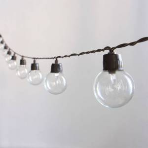Cémonjardin Guirlande lumineuse solaire 40 ampoules rondes - Publicité