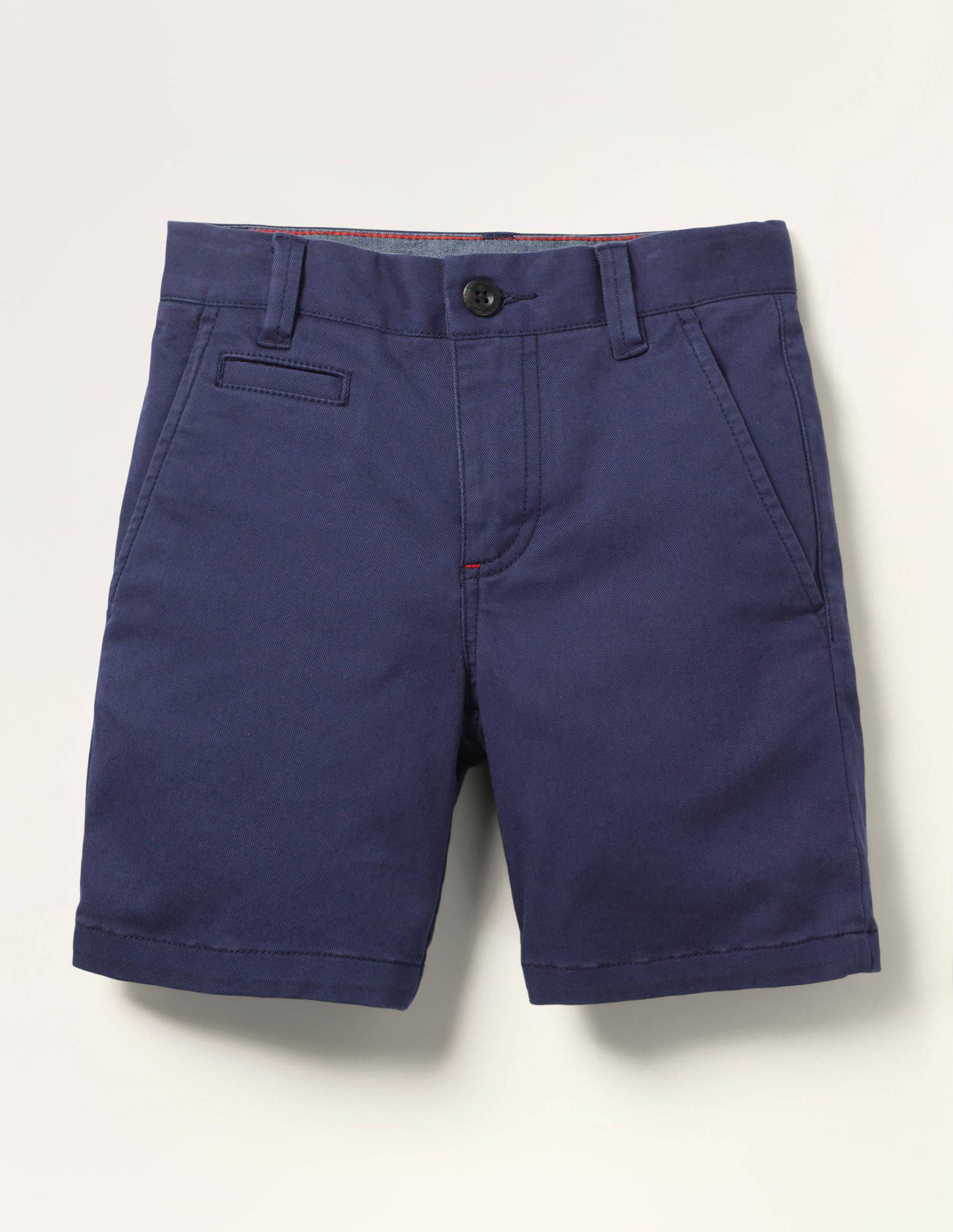 Mini Short chino NAV Femme Boden, Blue - 12a