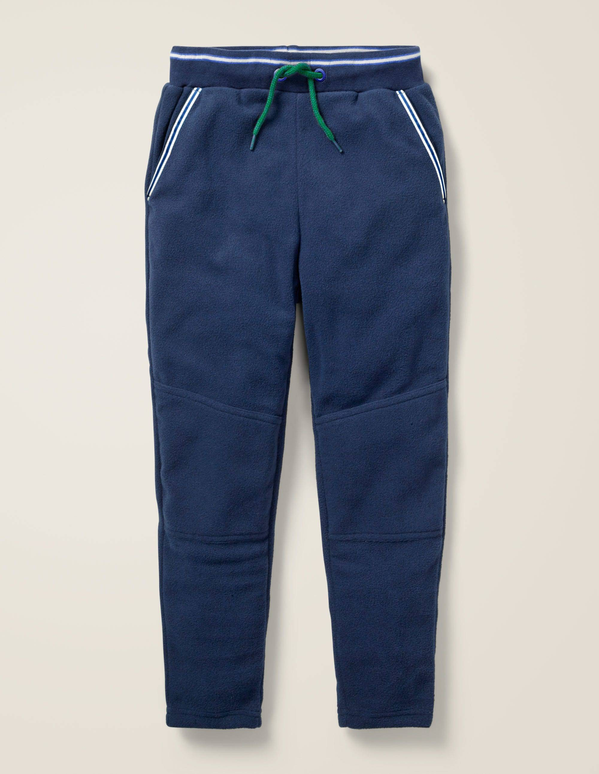 Mini Pantalon de survêtement en micro-polaire BLU Garçon Boden, Blue - 9a