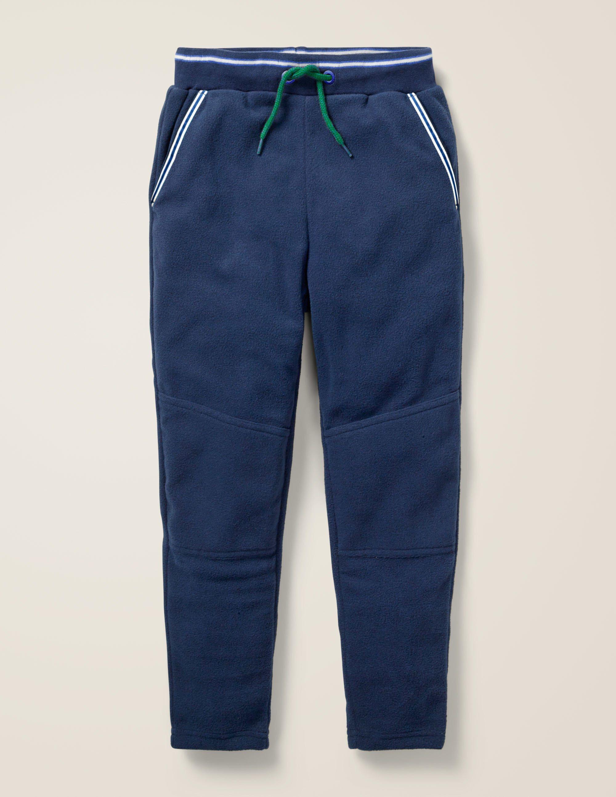 Mini Pantalon de survêtement en micro-polaire BLU Garçon Boden, Blue - 6a