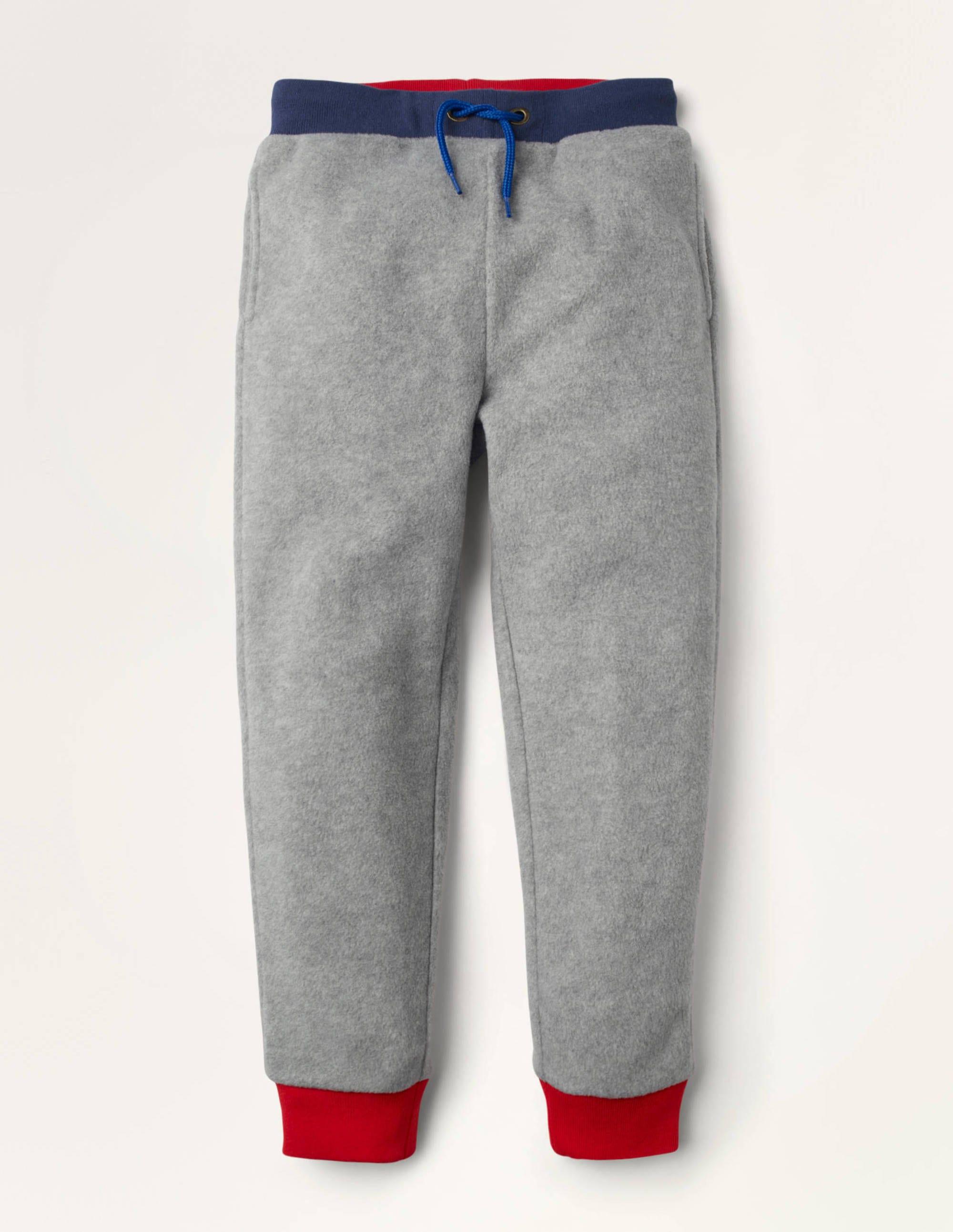 Mini Bas de jogging en micro-polaire GRY Garçon Boden, Grey - 6a