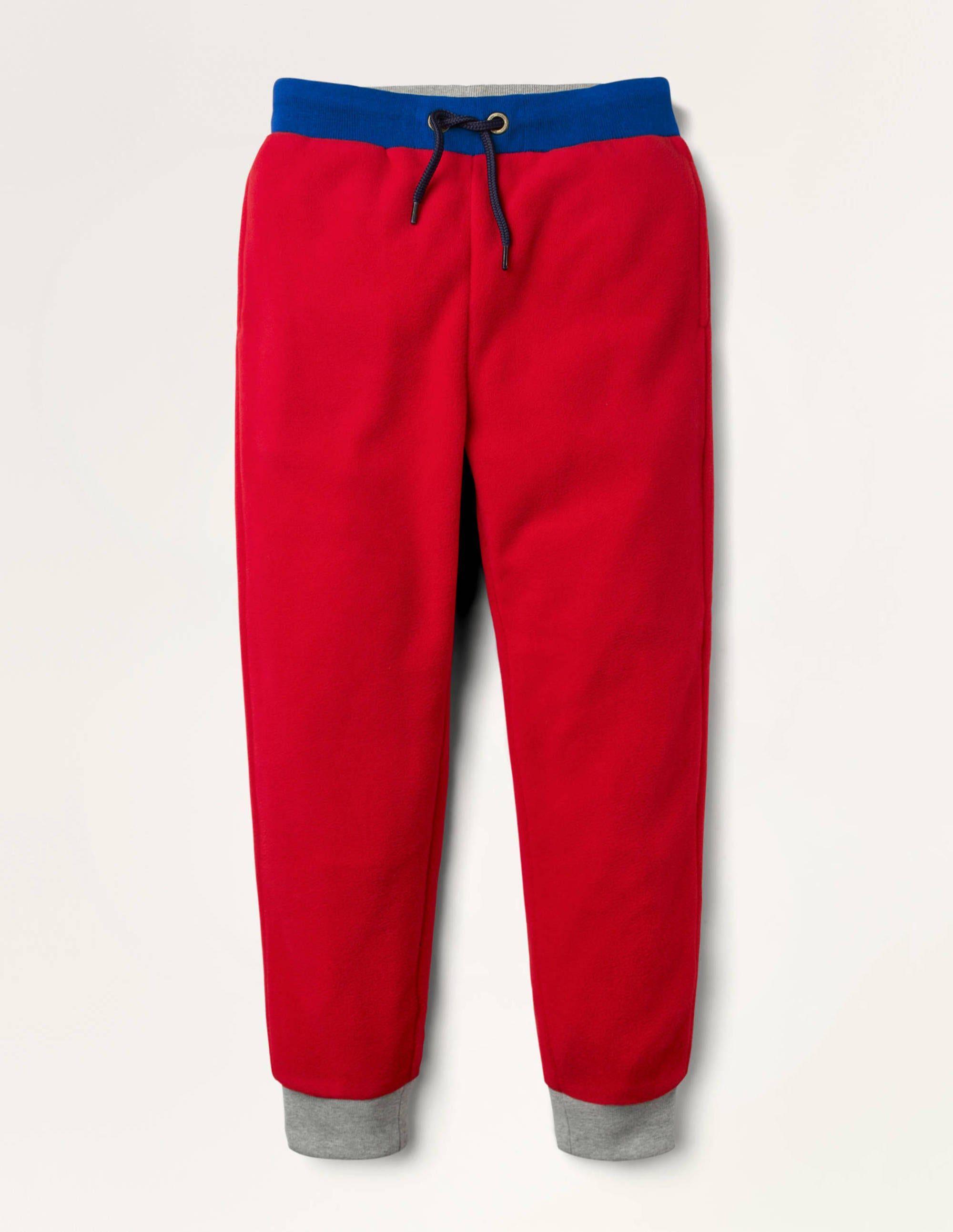 Mini Bas de jogging en micro-polaire RED Garçon Boden, Red - 4a