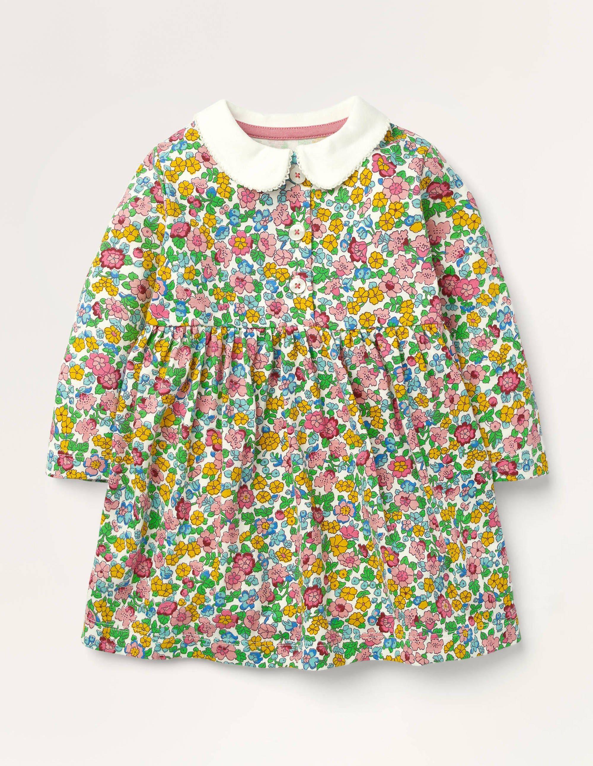 Baby Robe en jersey avec col MUL Bébé Boden, Vintage - 3-4a