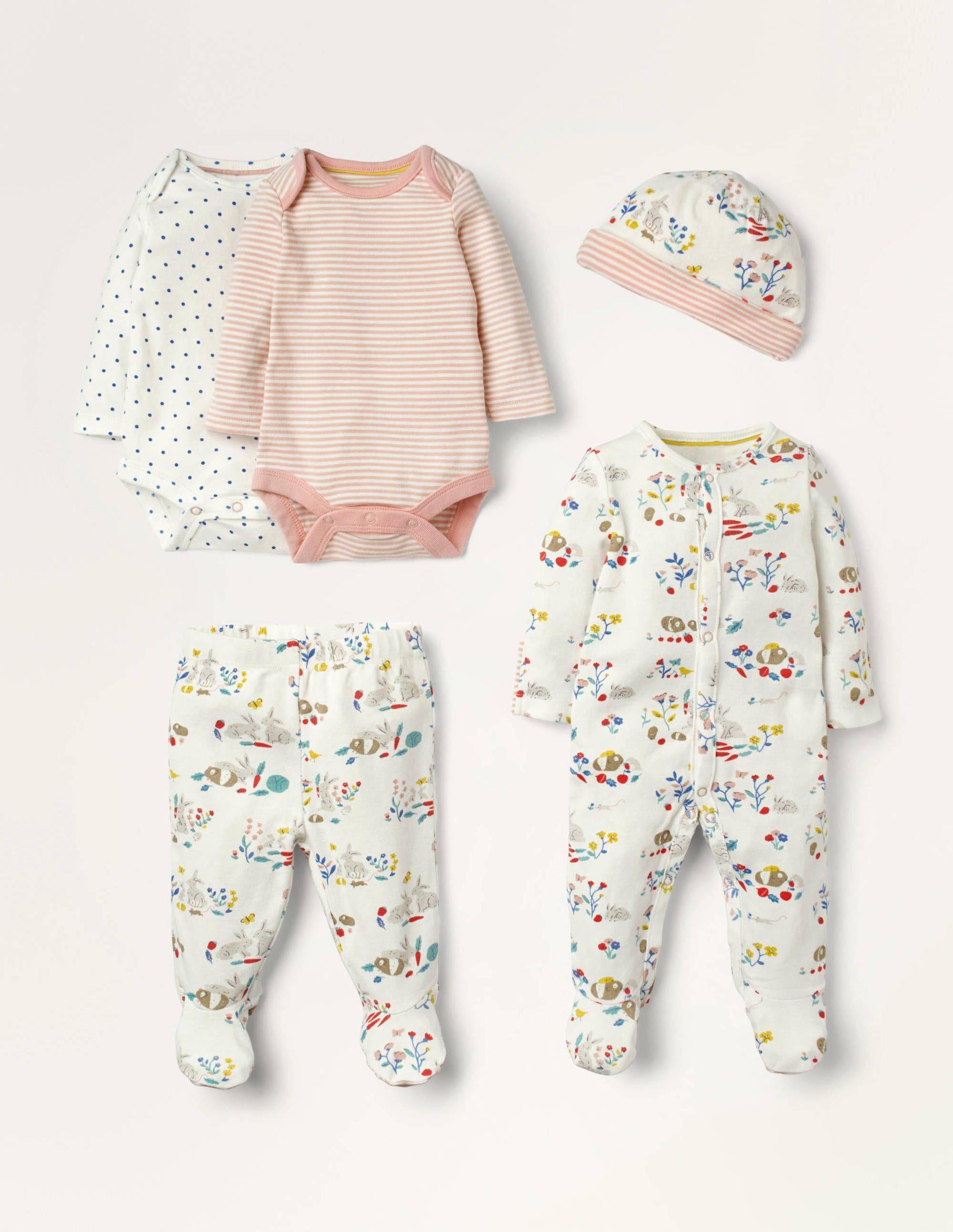 Baby Coffret cadeau 5 pièces pour nouveau-né MUL Bébé Boden, Multi - 6-9m