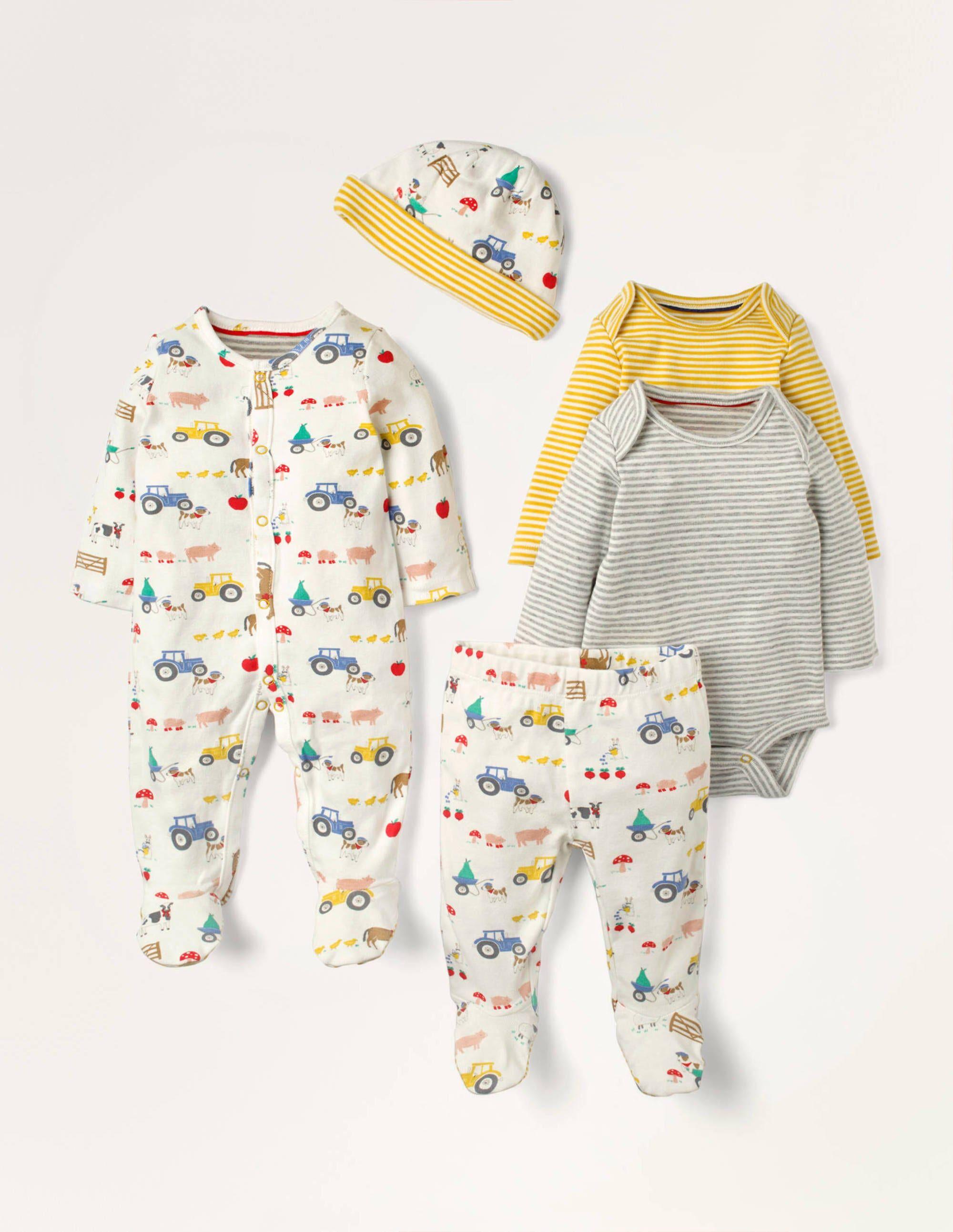 Baby Coffret cadeau 5 pièces pour nouveau-né IVO Bébé Boden, Ivory - 6-9m