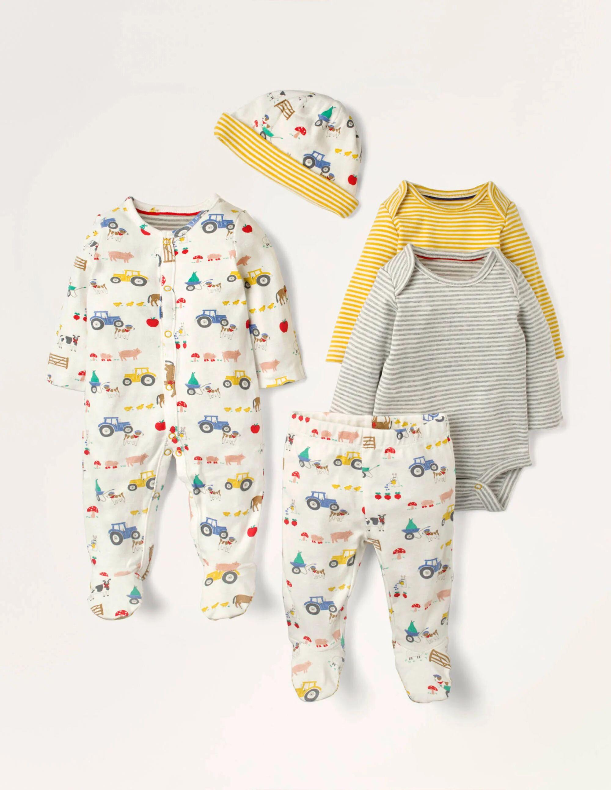 Baby Coffret cadeau 5 pièces pour nouveau-né IVO Bébé Boden, Ivory - Nouveau-nés