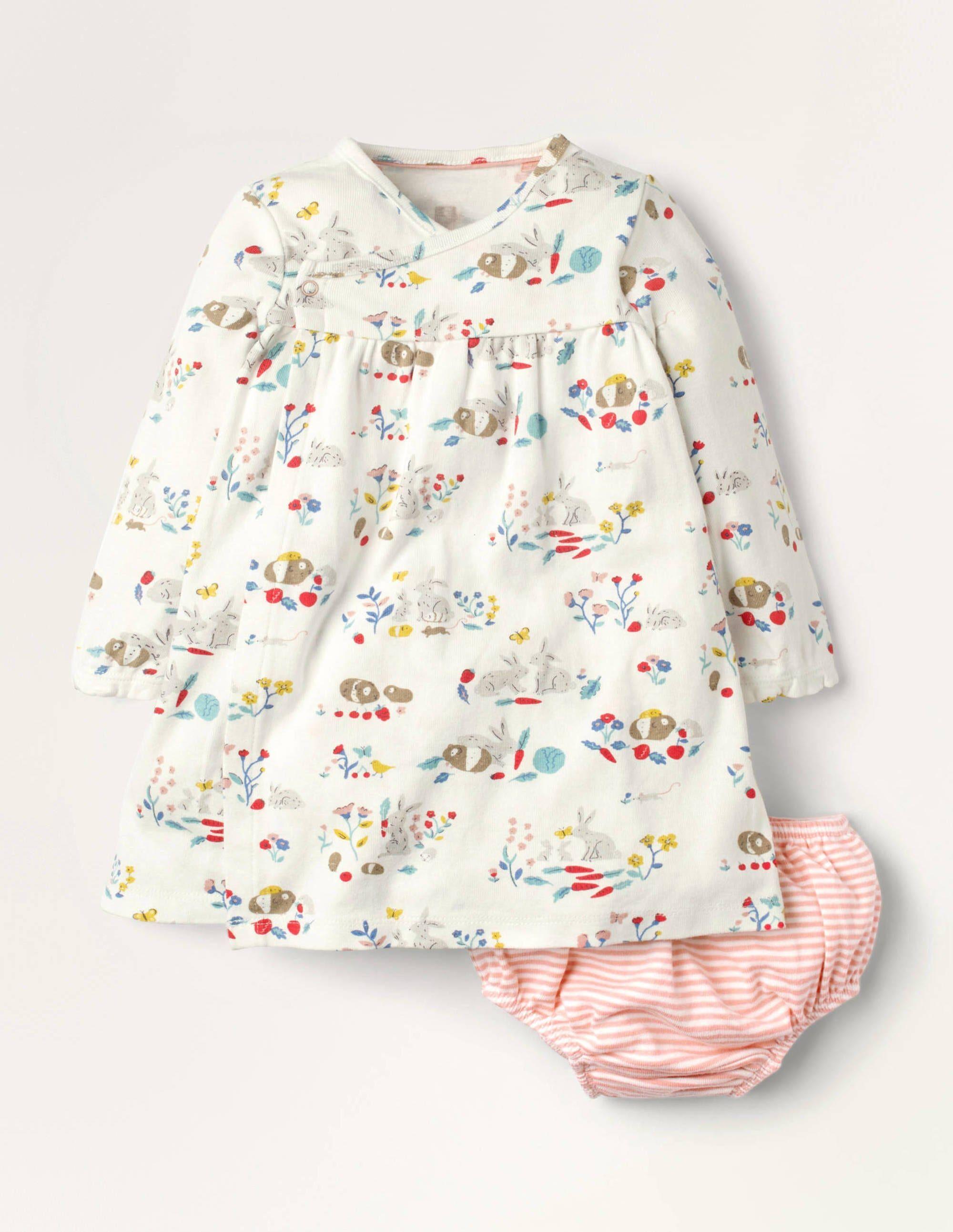 Baby Robe portefeuille en jersey pour nouveau-né MUL Bébé Boden, Multi - 0-3m