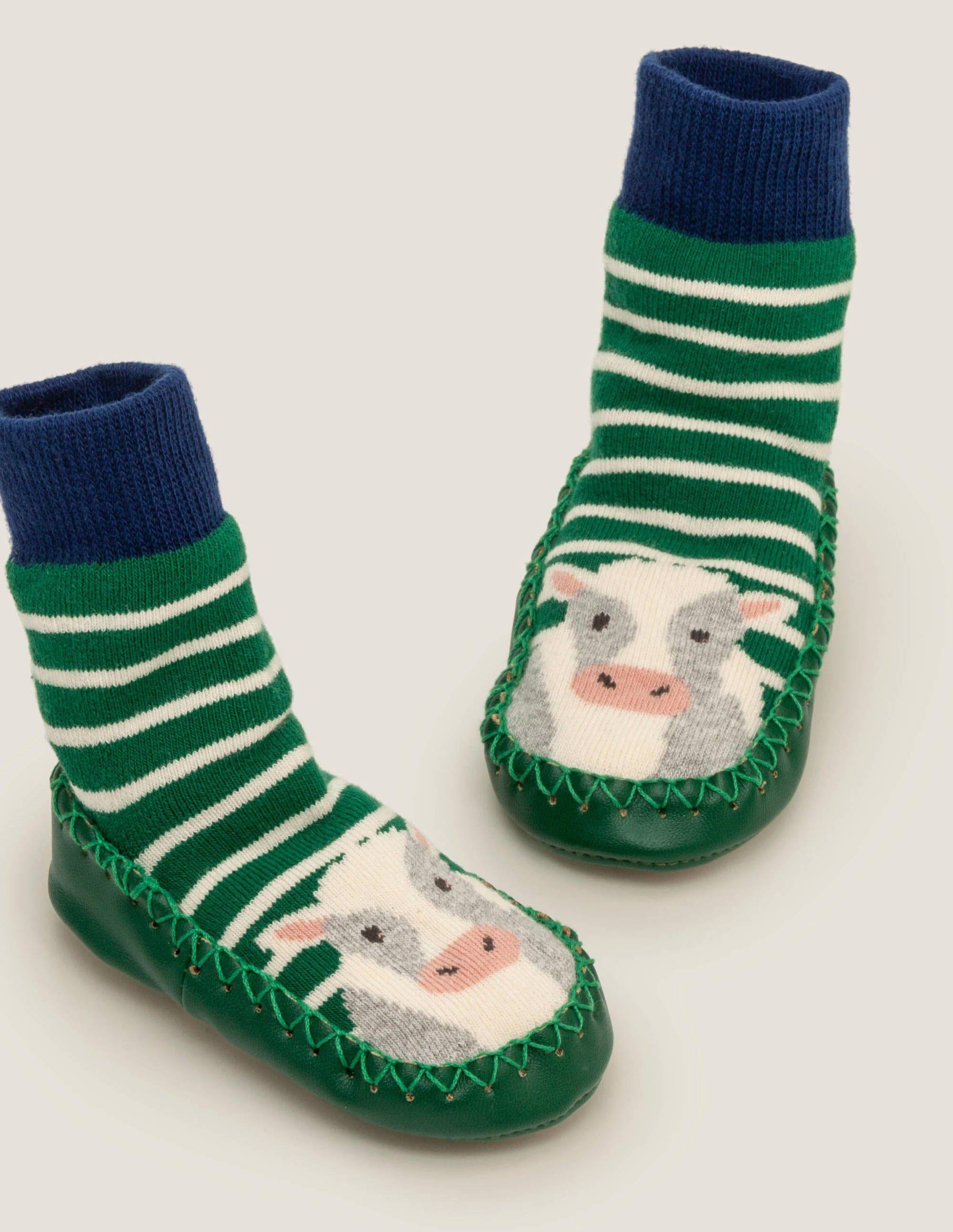 Boden Chaussettes style chaussons JAD Bébé Boden, Green - 12-24m