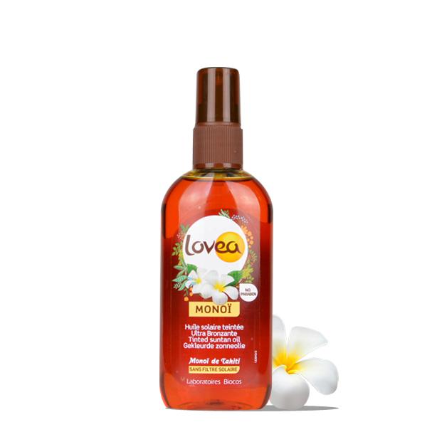Lovea Huile Solaire Teintée Ultra-bronzante - Monoï de Tahiti 125 ml