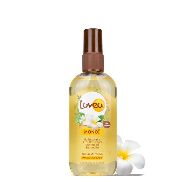 Lovea Huile Solaire Ultra Bronzante - Monoï de Tahiti 125 ml