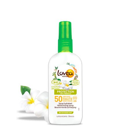 Lovea Spray Hydratant FPS 50 Haute Protection - 100% Minérale - Certifié Bio*  100 ml