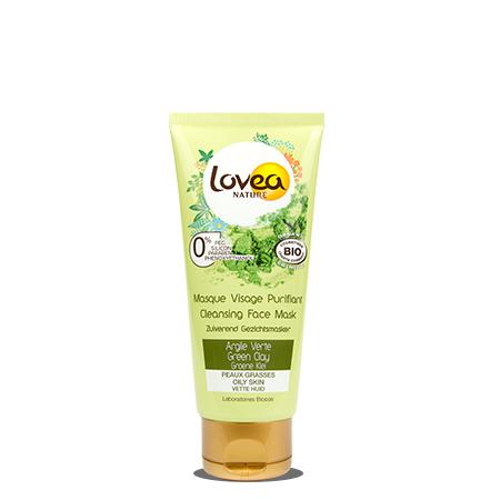 Lovea Masque Visage Purifiant certifié Bio* à l'Argile Verte 75 ml