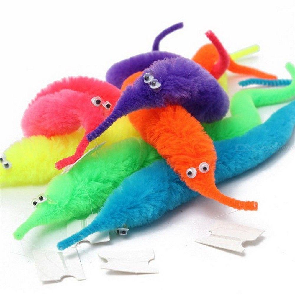 Magie Twisty Fuzzy Ver Wiggle Se Déplaçant Hippocampe Enfants Close-up Rue Comédie Tours De Magie Jouets Couleur Aléatoire