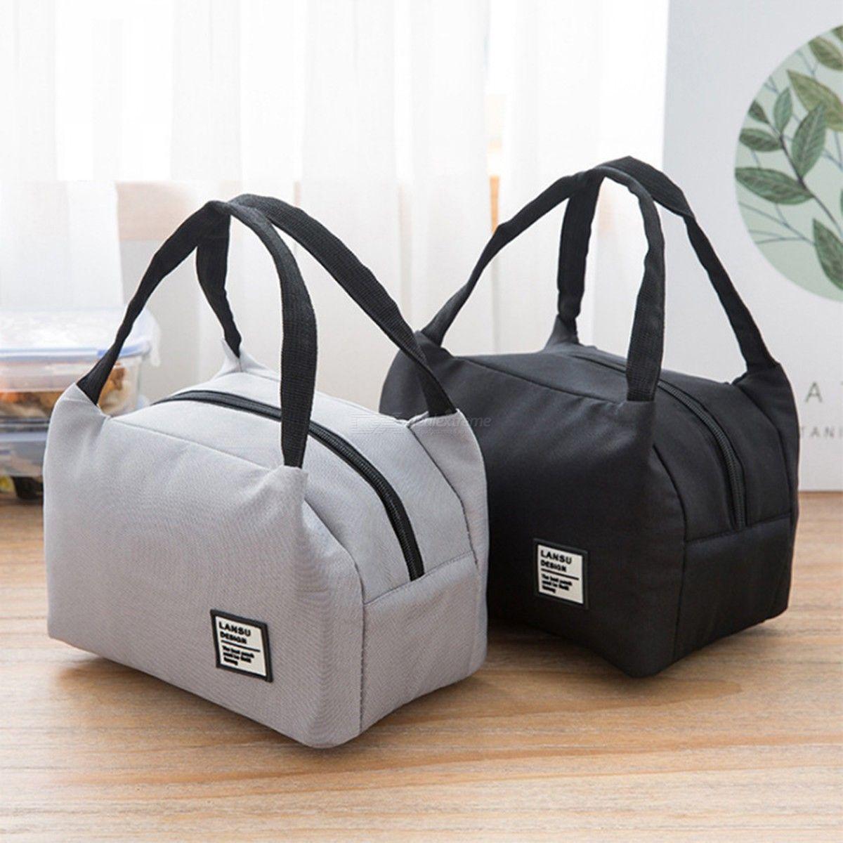 Sac Portable Bento Simple Capacité Grands Bacs À Lunch Isolé
