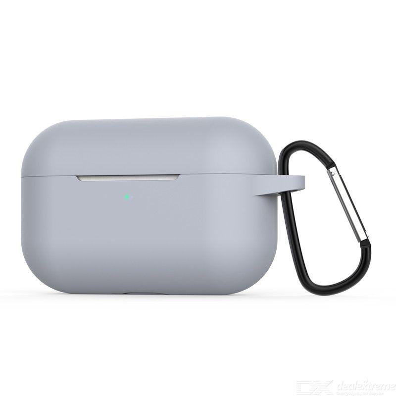 Apple Étui En Silicone Pour Apple AirPod Pro Étui De Protection Anti-choc 2019 Couverture Souple Avec Crochet