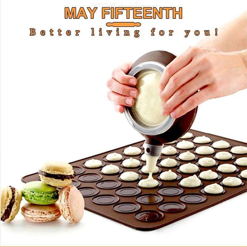 macaron kit de silicone planche à pâtisserie pour la cuisson tapis de moule avec des cercles macaron ensemble de plaquette de cuisson pot mat feuille de cuisson pot de décoration