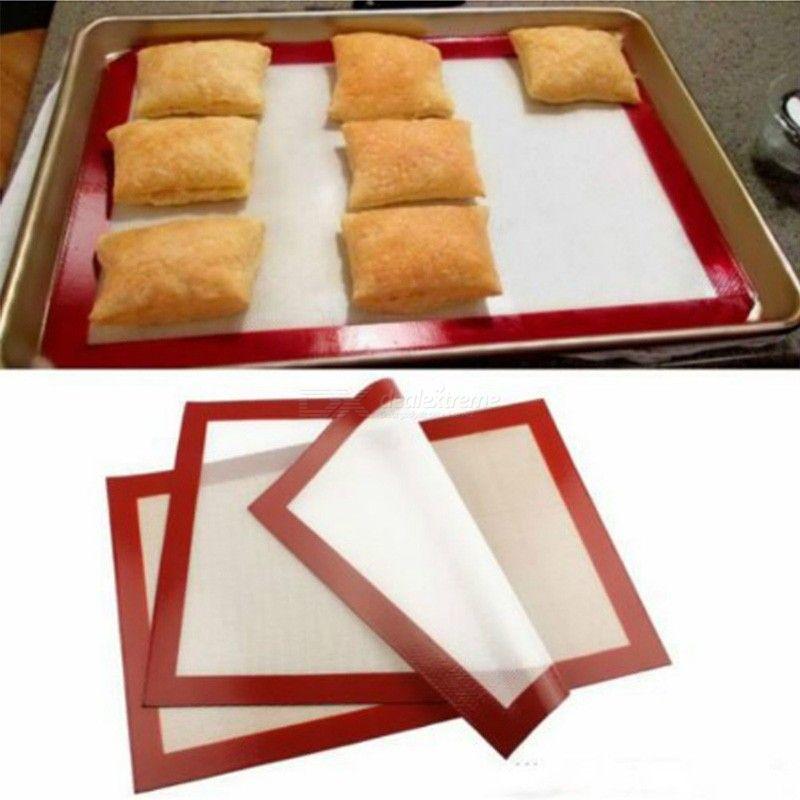 STOCK Antiadhésif Pâte Plaque De Cuisson En Silicone Cuisson Silpat Cuisine Four Tapis 3021cm