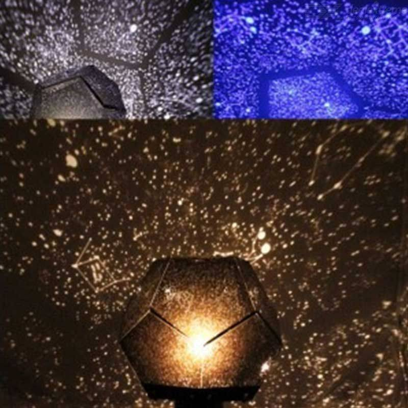 Projecteur Bricolage Étoiles Lumière Nuit Étoilée Lampe De Projection Ciel Avec 3 Modes D'éclairage Pour Chambre À Coucher