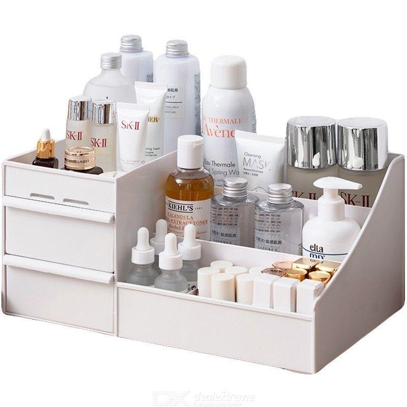 Boîte De Rangement De Bureau Multifonctions Grand Maquillage Capacité Conteneur De Bijoux Porte-tiroir Organisateur Cosmétique