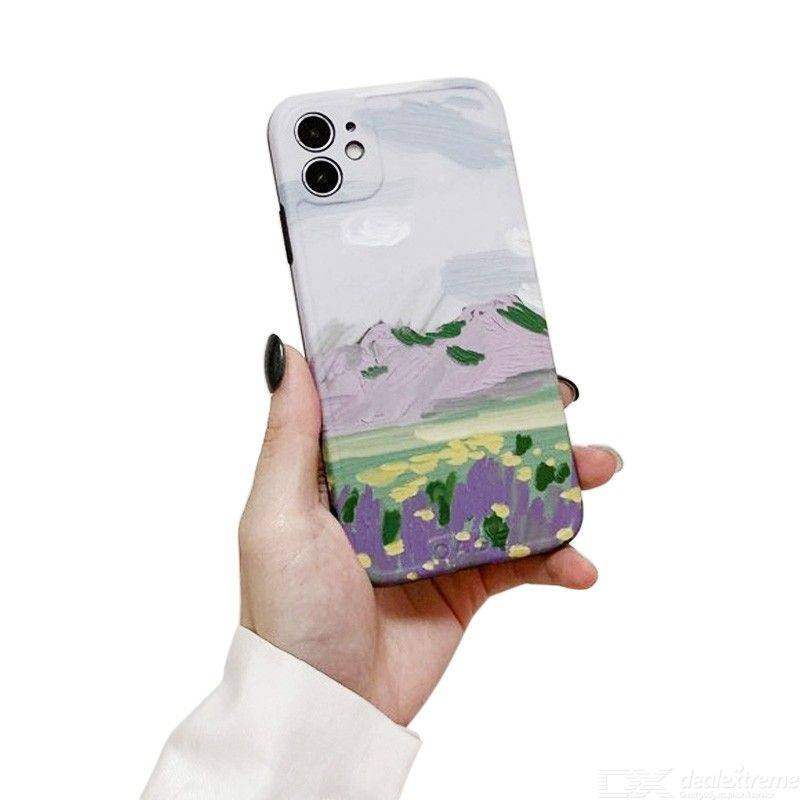 Pour L'iphone 11 Pro Max X XR Max 6 7 8 6S, Plus L'huile Rétro Peinture Couverture Arrière De Cas Anti-rayures Étui De Protection Anti-choc