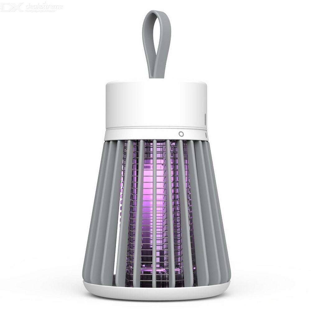 Lampe Tueur De Moustiques Photocatalytique 10W Choc Tueur Mouche Rechargeable USB Insectes Sans Bruit Électrique Lumière Piège À Moustiques