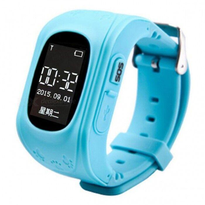 Montre-bracelet Intelligente Pour Enfant Q50 Avec Localisateur GPS GSM GPRS - Bleu