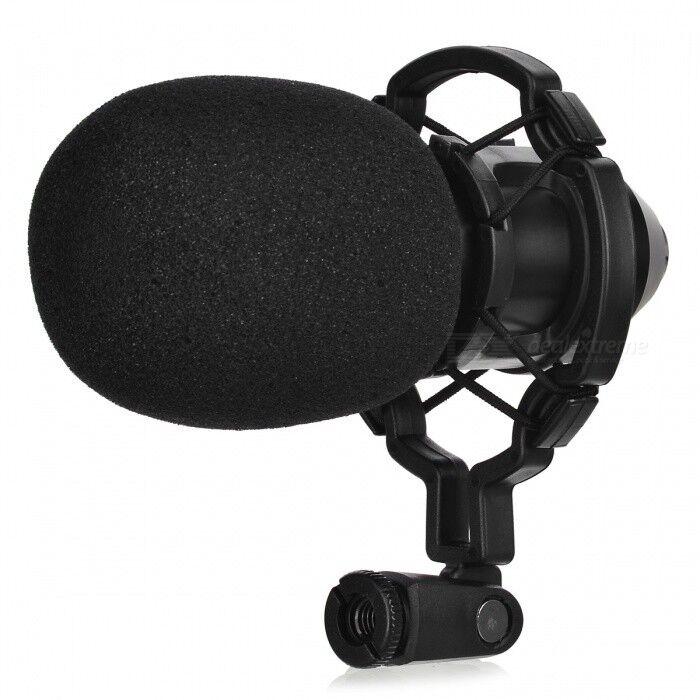 JEDX BM800 Microphone Professionnel À Enregistrement De Sons Avec Condensateur, Montage Anti-choc