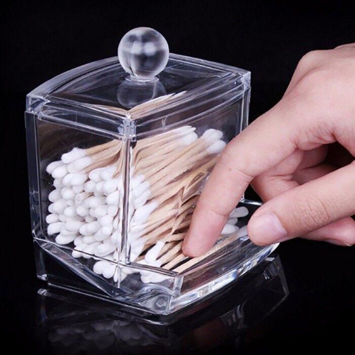 Mini boîte de support de stockage acrylique transparent créatif, effacer cotons-tiges bâton cosmétique maquillage organisateur cas clair