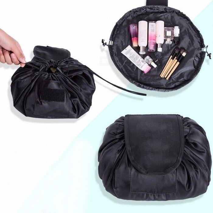 Maquillage Cosmétique Pliant Sac Rond Organisateur De Voyage Cordon Multifonction Fermeture Sacs De Rangement