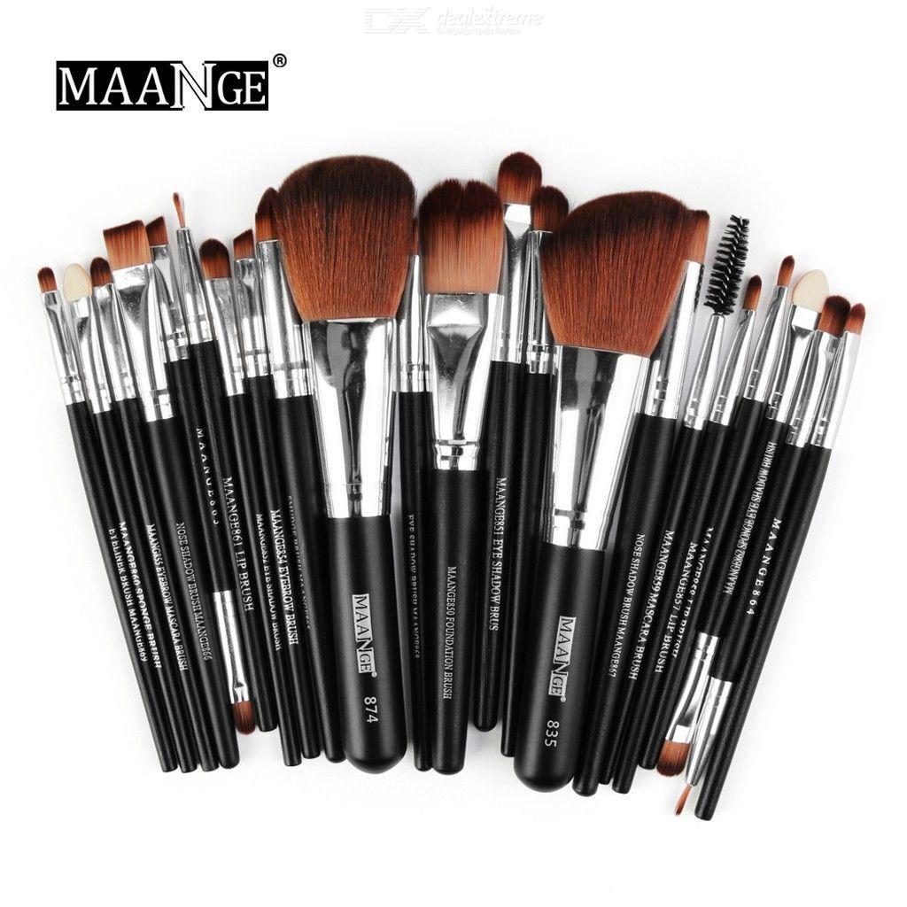 Ensemble De Pinceaux De Maquillage 22pcs, Teint En Poudre Cosmétiques Brosse Eye-liner De Fard À Paupières Kit De Toilette Maquillage Outil
