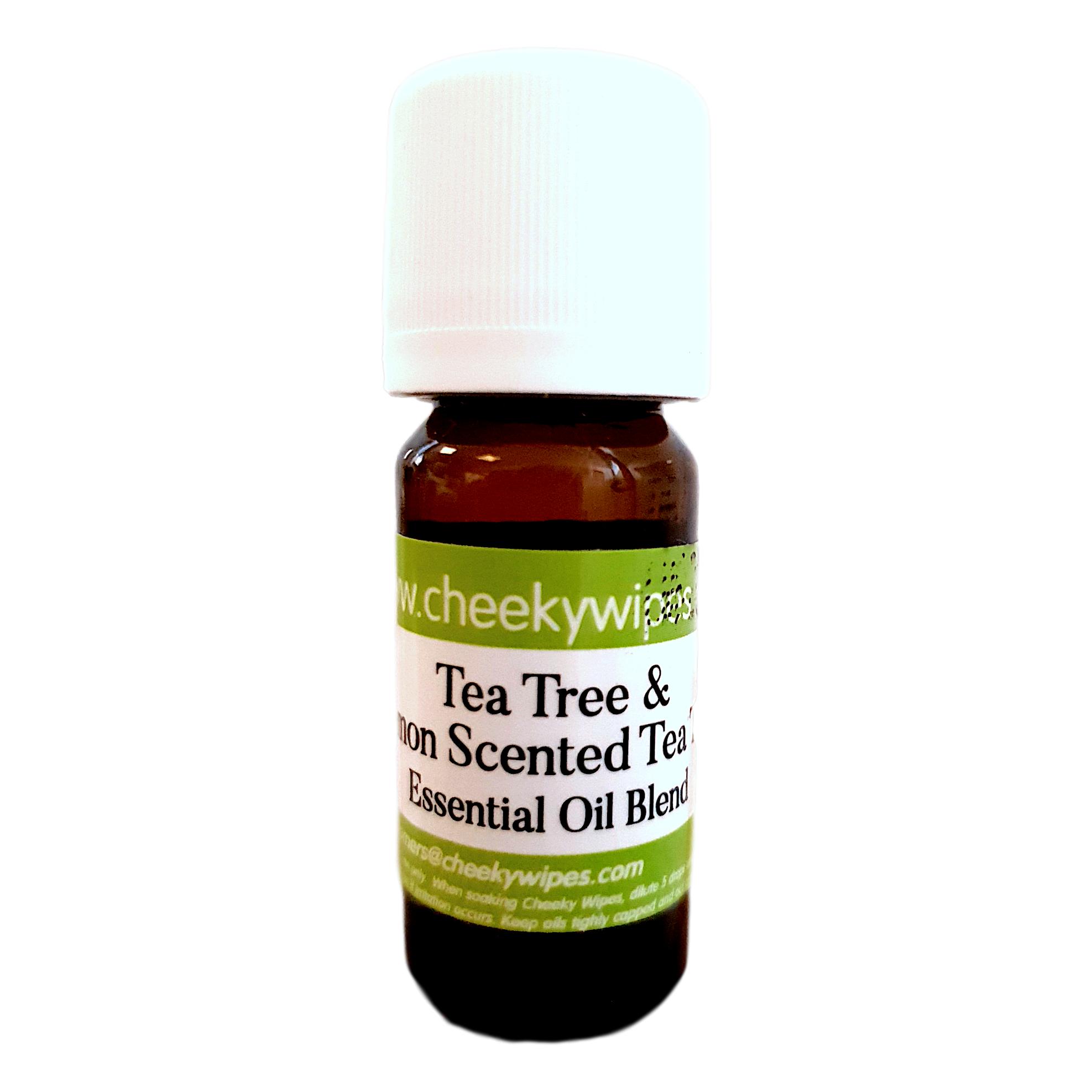 Cheeky Wipes Huile essentielle parfumée à l'arbre à thé et au citron