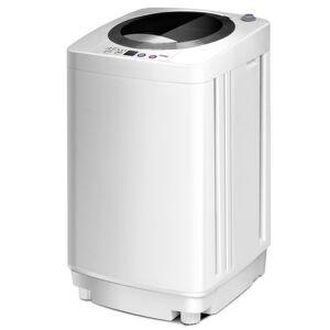 Costway Mini Machine à Laver Lave Linge Automatique 240 W Charge Supérieure 3 5 kg Blanc - Publicité