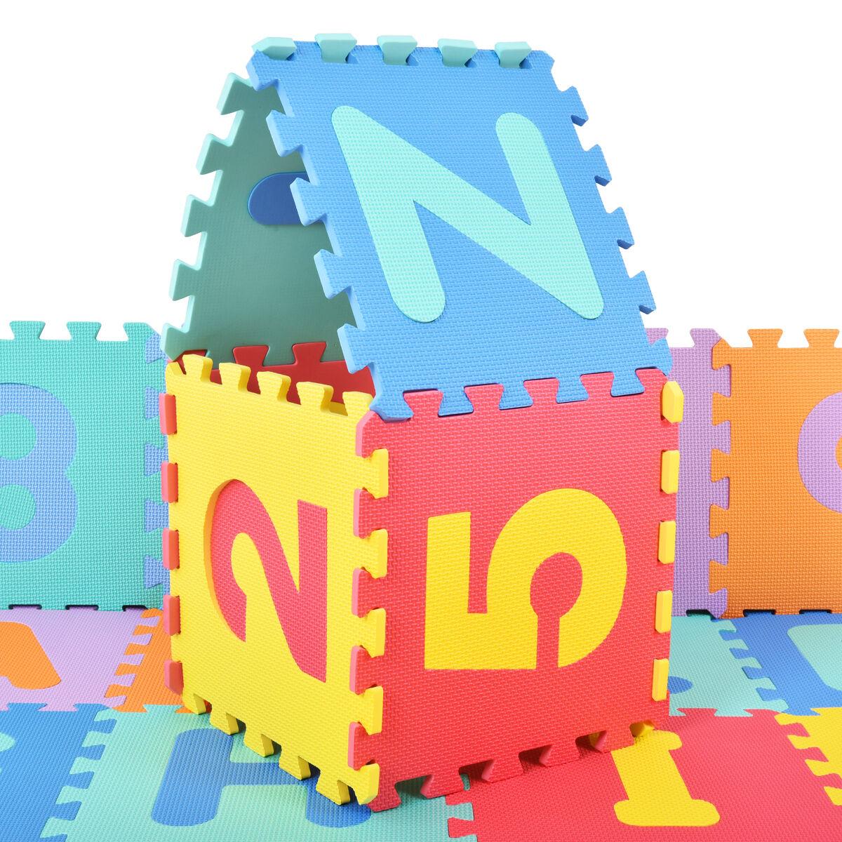 Costway 36 pcs mousse de matelas tapis enfants tapis de jeu de tapis de puzzle tapis de jeu tapis de tapis de sol