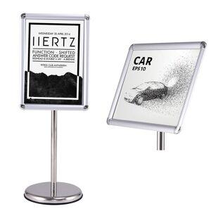 Costway Support d'affichage Menu avec pied Panneau d'Affichage Porte-Affiche A3 - Publicité