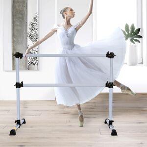 Costway Barre de Danse Classique Ballet Barre de Danse Double Mobile Hauteur Réglable 120x118x71cm - Publicité