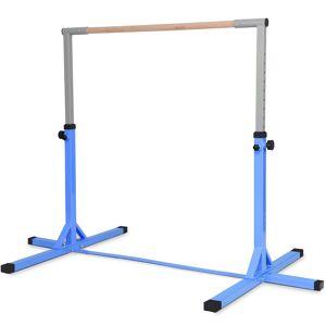Costway Barre de Gymnastique en Acier Hauteur Réglable de 91 à 150CM Capacité de Poids 100KG Bleu - Publicité