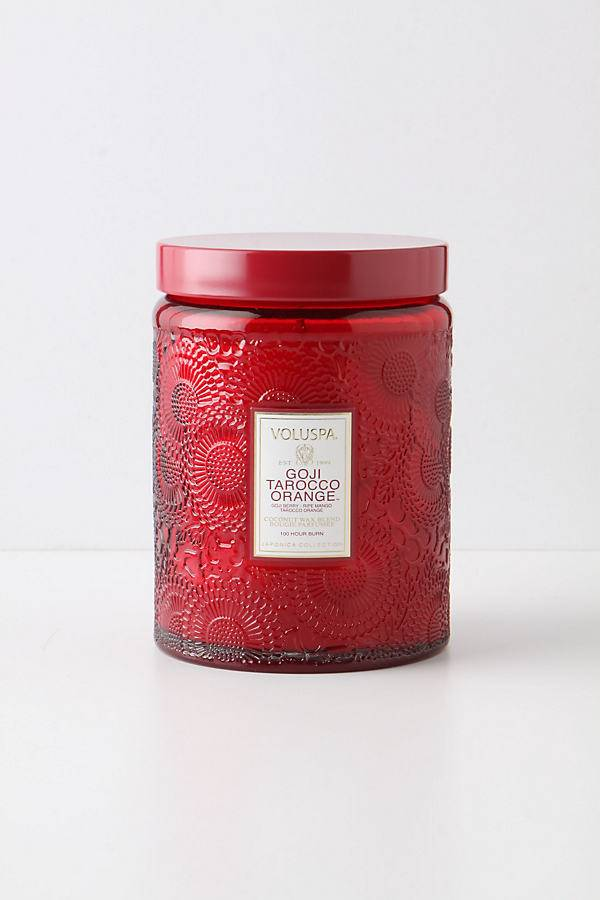 Anthropologie Bougie en bocal en verre taillé Voluspa - Assorted