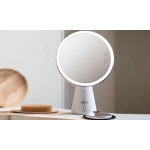 Groupon Goods Global GmbH Miroir éclairant LED avec enceinte Bluetooth Silk'n Music Mirror - Publicité
