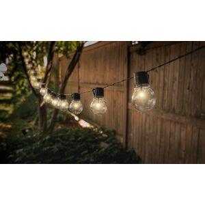 Groupon Goods Global GmbH 1 ou 2 guirlande solaire rétro avec ampoules - Publicité