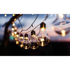 Groupon Goods Global GmbH Guirlande solaire de 10 ampoules de style rétro - Publicité