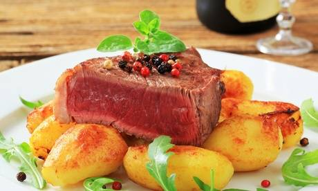 Chapitre suivant Faux-filet de bœuf ou pavé de thon mi-cuit en croûte de sésame pour 2 pers, au restaurant Chapitre suivant