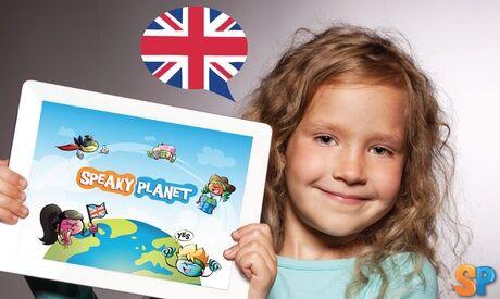 SpeakyPlanet 1, 3, 6 ou 12 mois de cours et jeux en ligne d'anglais pour enfants avec SpeakyPlanet (jusqu'à 49% de réduction)