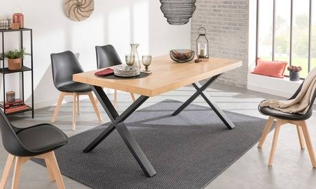 Groupon Goods Global GmbH Table style industriel