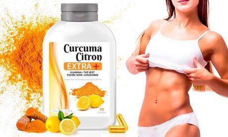 """Groupon Goods Global GmbH 30, 60, 120, 240, 360 ou 720 gélules compléments alimentaires curcuma et citron """"Extra +"""""""