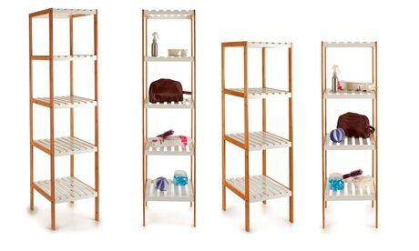 Groupon Goods Global GmbH Armoire en bambou de 4 ou 5 étagères